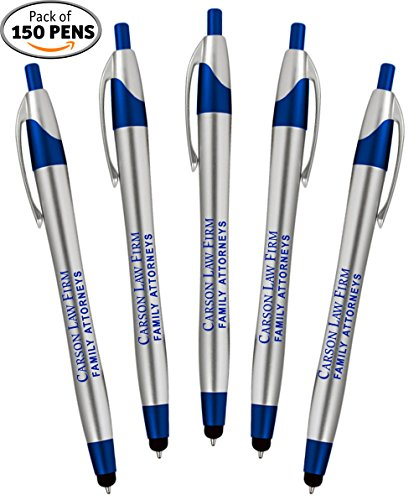 Personalized Writing Ink Ballpoint Novelty Pens, Custom Printed with Your Logo & Text