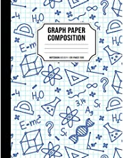 Graph Paper Composition Notebook 8.5 x 11: Quad Ruled 5 squares per inch (5x5) Grid Paper Notebook for Math and Science Students 120 Large Pages