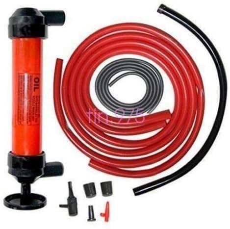 FidgetGear Siphon Pump Kit Transfer Water Oil Fuel Kerosene Gas Fluid Syphon Change Hose
