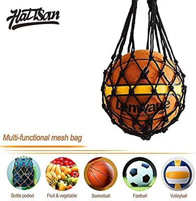 3Pcs Mesh Ball Net Voleibol Basketball Football Carry Net Bag ...