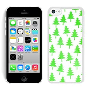 Personalized Hard Shell Iphone 5C TPU Case Christmas Tree White iPhone 5C Case 10