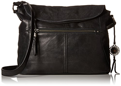 The Sak Esperato Flap Hobo Convertible Cross Body Bag,Black,One size by The Sak