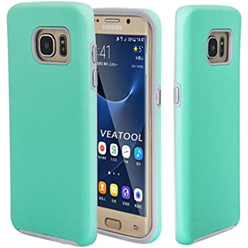 Galaxy S7 Edge Case,Veatool Shock Proof Dual Layer [Slim Fit] Ultra Rugged Rubber [Anti Slip] Case for Samsung Sales