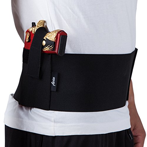 Airica Belly Band Holster For glock 42 shirt Concealed Carry Waist Band Handgun Carrying System