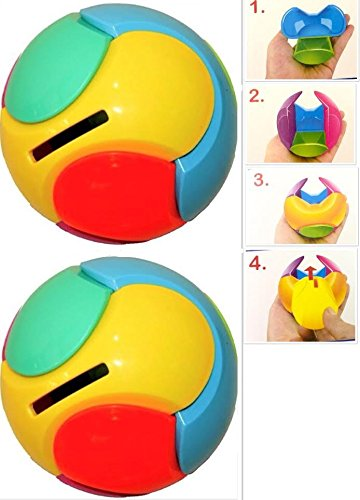 2 Bank Puzzle Ball - Money Bank Money Saving Box Colourful Puzzle Piggy Bank Ball Toy Gift for Kids