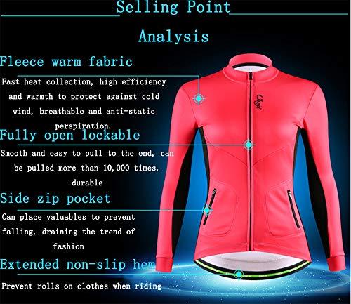 Lunghe Da In Caldi Sportivo Abbigliamento Giacca Maniche Poliestere Donna Di Tfgy Jersey Spessi A Vestiti Esterno Bicicletta Black HSBqpwY