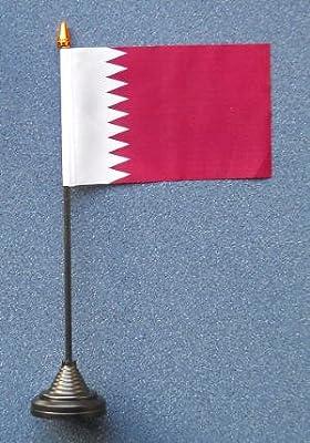 Qatar Country escritorio para embutir a presión en la parte superior de la bandera de: Amazon.es: Hogar