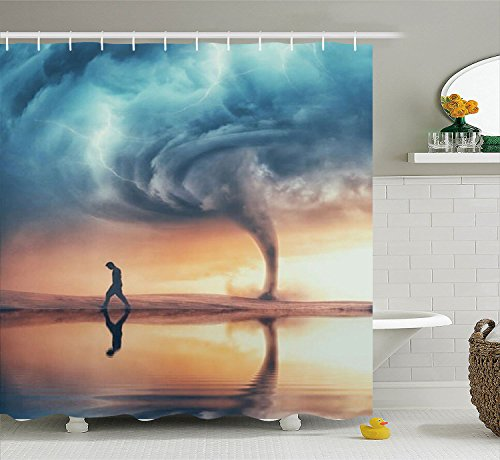 Cool Pictures 3D Design Polyester Waterproof Shower Curtain-Bathroom Accessoriess Guys 72x72 by Painting Shower Curtain