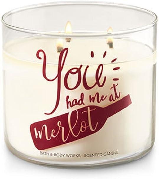 2 Bath /& Body Works BLACK CHERRY MERLOT 3-Wick Large Candle 14.5 oz