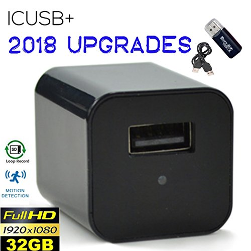 Covert USB Wall Charger Hidden Spy Camera, Motion Detection