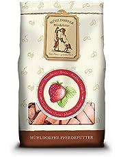 Mühldorfer - Leckerli di Fragola, 1 kg, Lecca Lecca per Cavalli, Cibo ricompensante con Sapore di Fragole, picchetti, lubrificazione e Non incollare