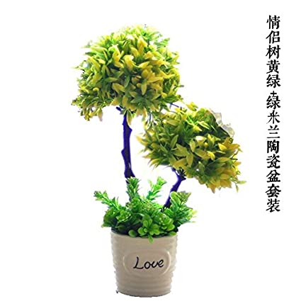 Amazon com: LANJIE Small Potted Flowers Trees Simulation