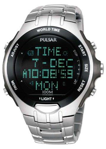 Pulsar PBL047X1 - Reloj analógico - digital de caballero de cuarzo con correa de acero inoxidable