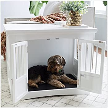 Amazon.com: Hot Sale! Indoor Dog Crate End Table 2 Door White Wood ...