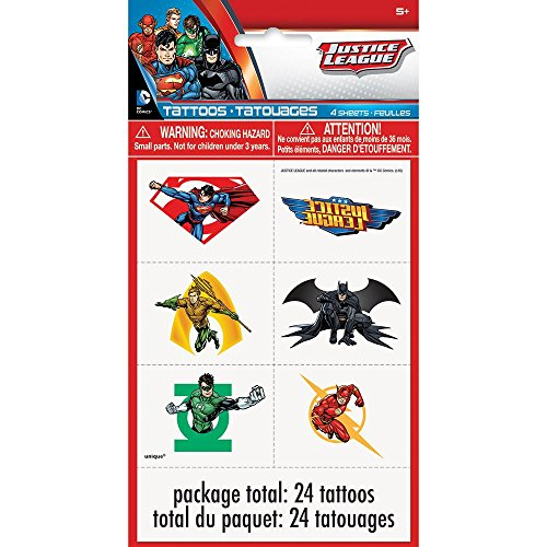 Justice League Tattoos, 24ct -