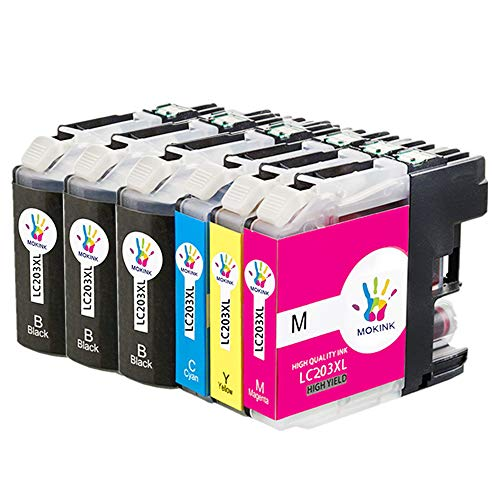 ZR-Printing Replacement Brother LC203 203xl Ink Cartridge Compatible Brother MFC-J4320DW,MFC-J460DW,MFC-J480DW,MFC-J485DW,MFC-J680DW,MFC-J880DW,MFC-J885DW (3BK,1C,1M,1Y) - Brother Oem Print Cartridge