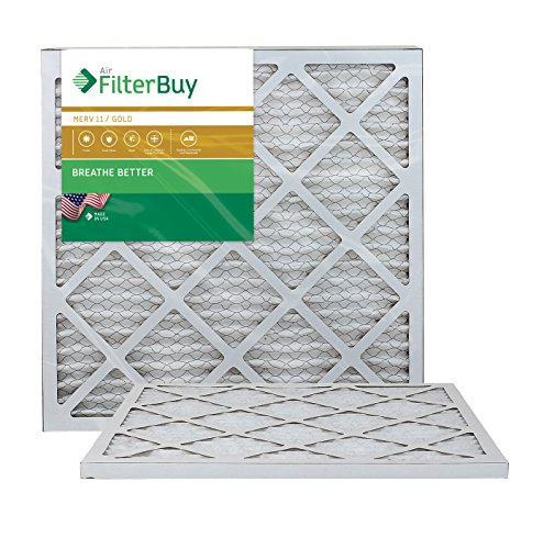 AFB Gold MERV 11 20x22x1 Pleated AC Furnace Air Filter. Pack of 2 Filters. 100% produced in the USA.