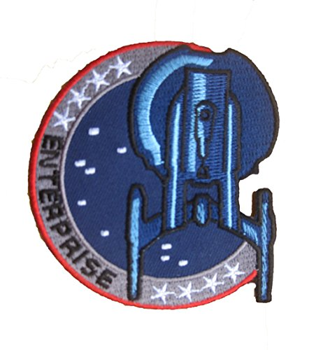 STAR TREK Enterprise Uniform sew iron on Patch Badge Embroidery 8x8.5 cm 3x3.25