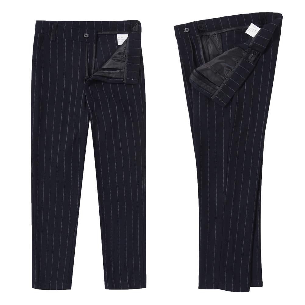 Inkicc Black Boys Suit Pinstripe Formal Dresswear Tuxedo Set