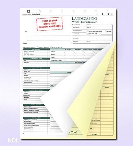 Landscaping Work Order Form/Invoice/Billing Sheets