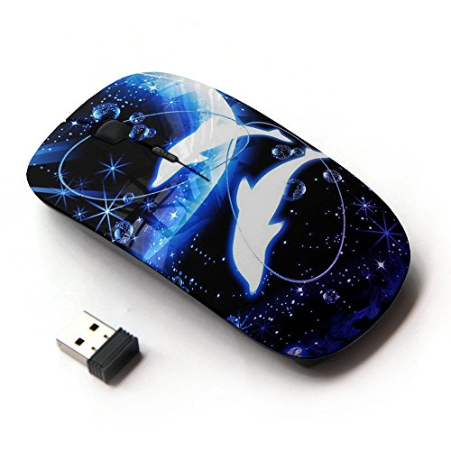 Dolphins Moon (KOOLmouse [ Optical 2.4G Wireless Mouse ] [ Crescent Moon Dolphins Sea ])