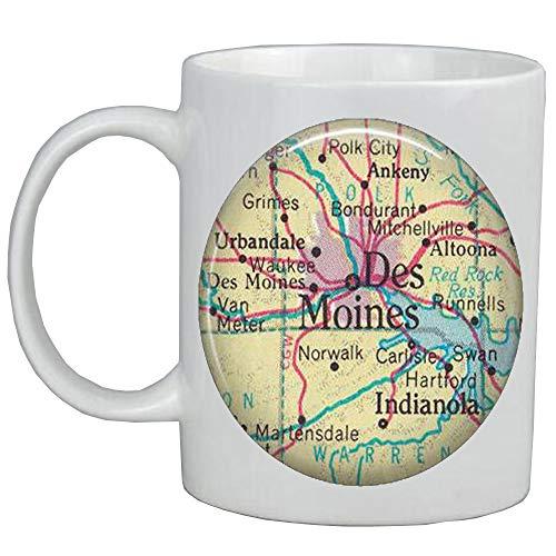Fashion Coffee Mug Des Moines,Iowa map Mug,Des Moines map Coffee Mug,Des Moines Mug,map jewelry,A0069 -