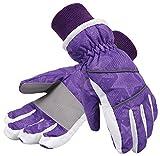 Lullaby Kids Waterproof Ski Gloves Kids Winter Windproof Sport Snow Gloves S
