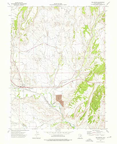 - Wellington UT topo map, 1:24000 Scale, 7.5 X 7.5 Minute, Historical, 1972, Updated 1976, 26.7 x 21.8 in - Paper