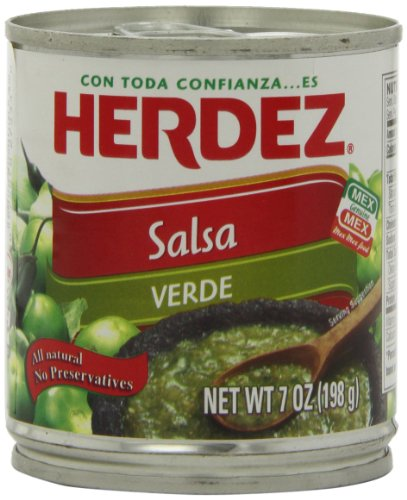 Herdez Green Salsa Verde, 7-Ounce Cans (Pack of 12)