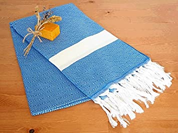 Set de 6 Otomano Peshtemal turco Pestemal toalla de baño toalla de Hamam peshtemal Yoga Unisex Spa Sauna playa yate chal cuidado del bebé chal: Amazon.es: ...