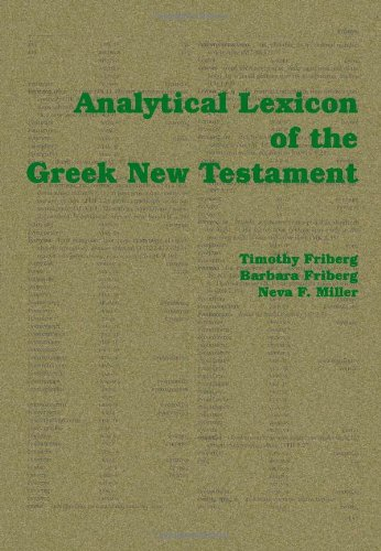 Download Analytical Lexicon of the Greek New Testament pdf epub