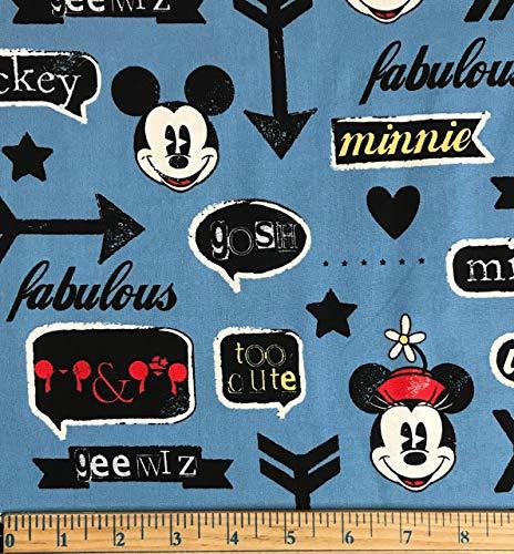1/2 Yard - Mickey & Minnie