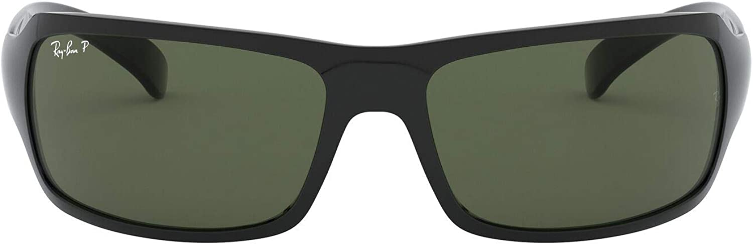 Ray-Ban 4075 601/58, Black/Crystal green polarized, 61: Amazon.es ...