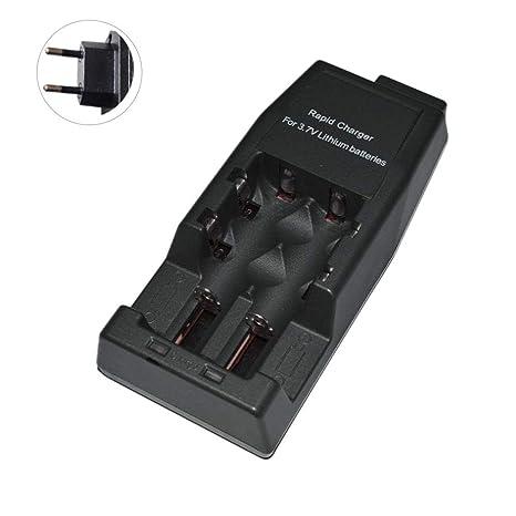 Prom-note 3.7V Cargador Baterias, Canal Dual Independiente ...