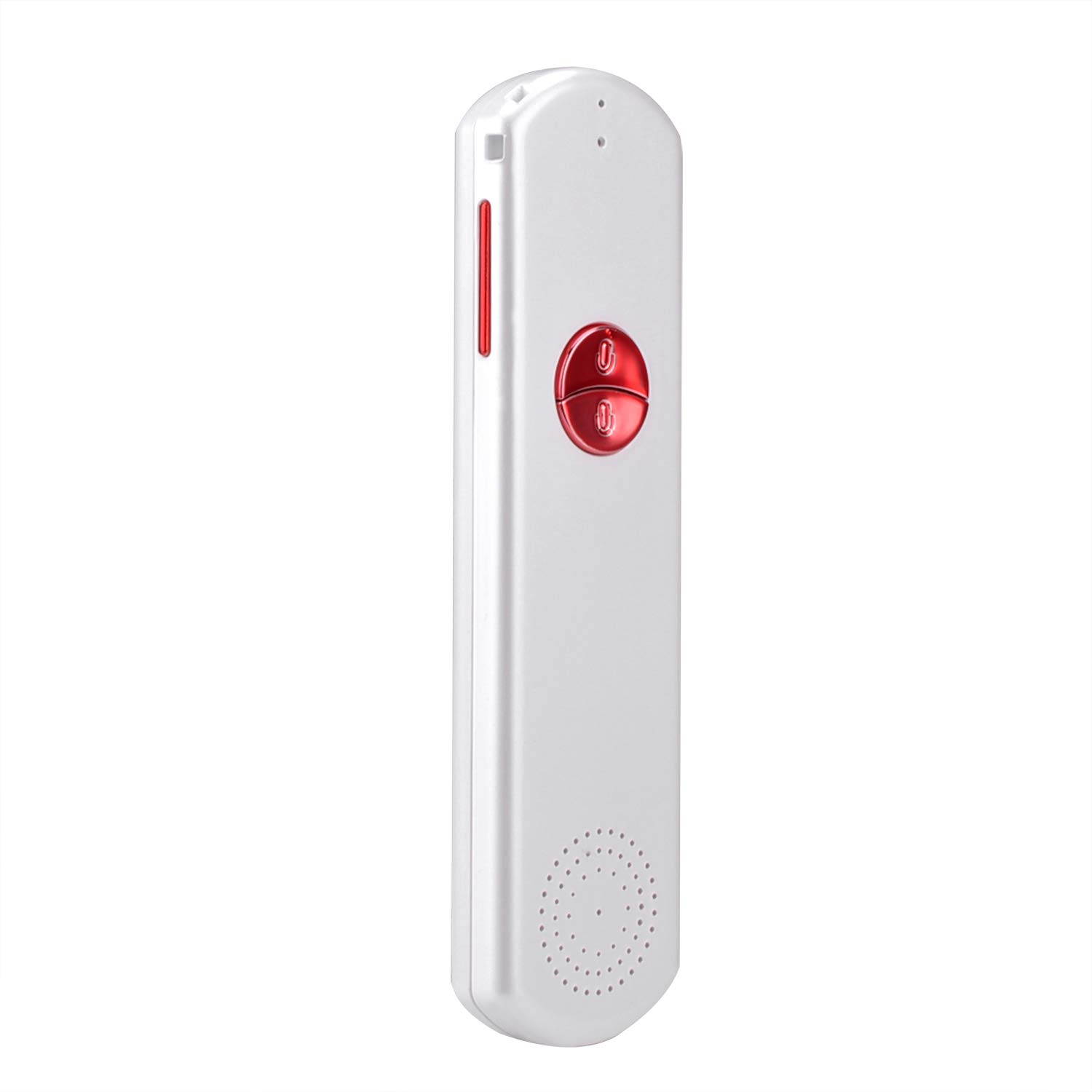 Two Way Easy Trans Smart Language Translator Device Electronic Pocket Voice Bluetooth 52 Languages for Meeting Learning Travel Shopping Business Fit for Apple iPhone Android White Red (WIFI/3G/4G/5G)
