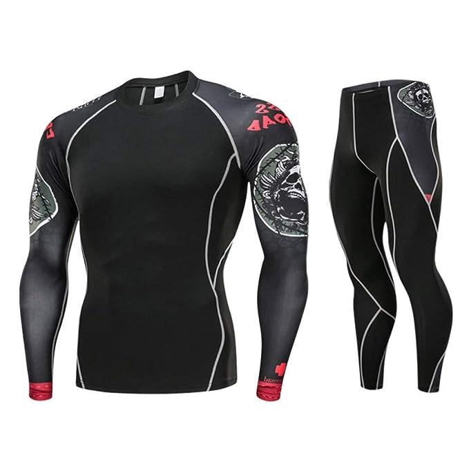 Bestow Black Friday Juego de impresión de Secado rápido para Hombres Tops Deportivos Ropa Interior Conjunto de Pantalones de Yoga: Amazon.es: Ropa y ...