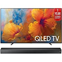 Samsung QN65Q9 65-Inch 4K Ultra HD Smart QLED TV (2017 Model) + HW-MS750 Sound+ Premium Soundbar + 1 Year Extended Warranty