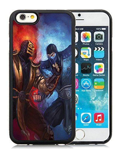 Cell 6 Scorpion - Generic iPhone 6 TPU Case,Mortal Kombat Scorpion Sub Zero Punch Ice Fire Black Cover Case For iPhone 6S 4.7 inches