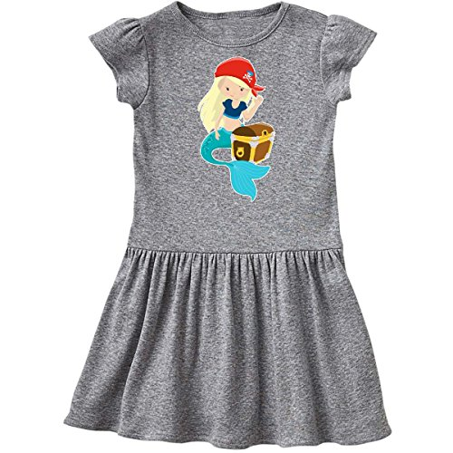 inktastic - Mermaid Pirate Toddler Dress 2T Heather Grey 27523 ()