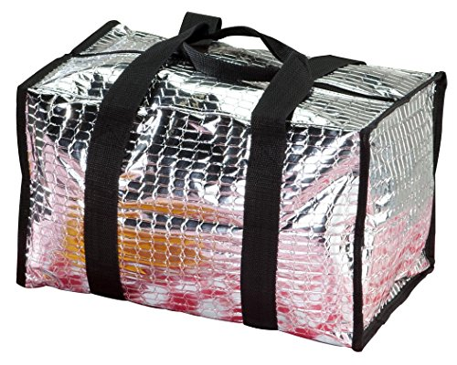 - Insulated Portable Tote Bag for Cold or Hot Food and Beverages-Foldable Travel Totes with Webbed Carrying Handle - Large
