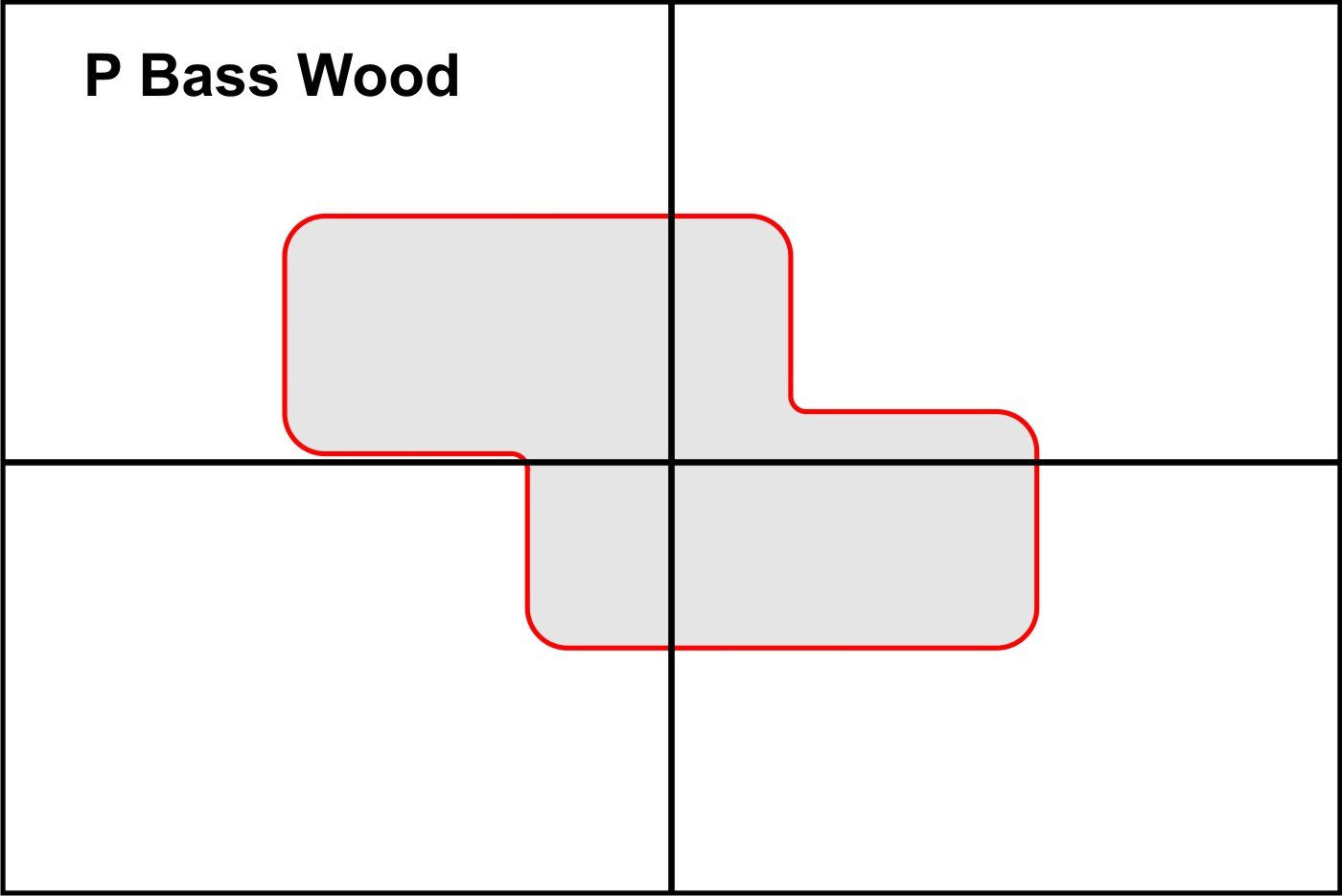 Amazon Pickup Routing Template P Bass Wood Musical Instruments