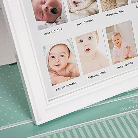 Olelemy First Year Baby Picture Framebabies Handprint Footprint