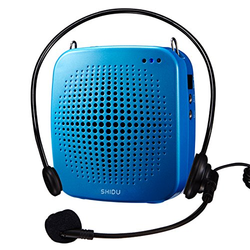 SHIDU Portable LoudSpeaker with Microphone, Classroom PA System or Voice Amplifier with Natural Sound, Works as Speaker with Aux Cable, In built TF Card Reader and USB Flash Drive, Ideal for (Wireless Classroom Sound System)