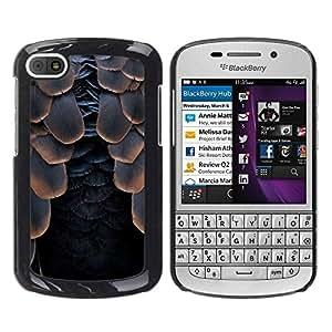 TopCaseStore / la caja del caucho duro de la cubierta de protección de la piel - Raven Black Halloween - BlackBerry Q10