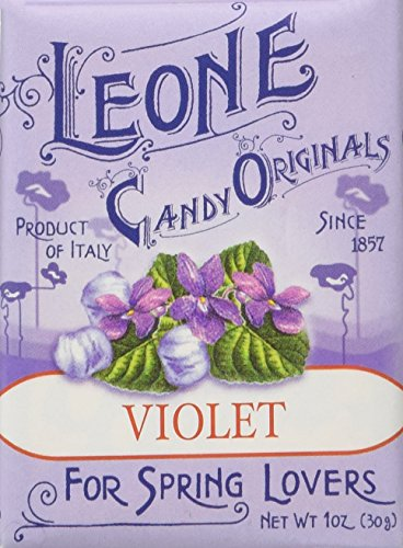 Pastiglie Leone Violet Candy Mints in Retro Small Box, Three