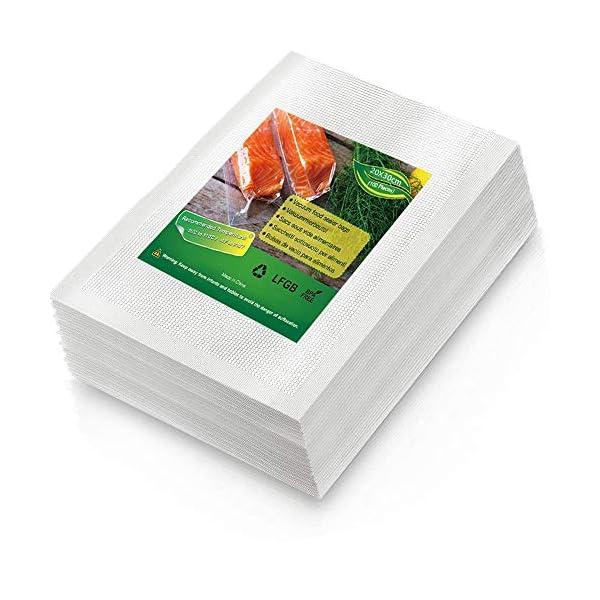 BoxLegend Sacchetti Sottovuoto Alimenti, 100 sacchetti 20x30 cm per la Conservazione Degli Alimenti e Cottura Sottovuoto… 1