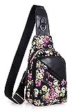 Leaper Messenger Bag for Women Cross Body Bag Sling Bag Travel Bag Shoulder Bag Floral