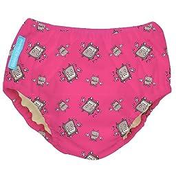 Charlie Banana Swim Diaper (Small 11-18 lbs, Girl Robot)