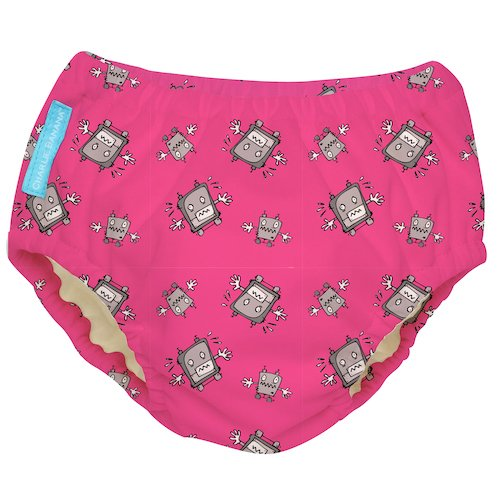 Charlie Banana Robot Girl Print Swim Diaper and
