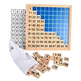 100 number board - Wooden Montessori Teaching Aids Math 1 - 100 Consecutive Numbers Counting Board Plate Toy